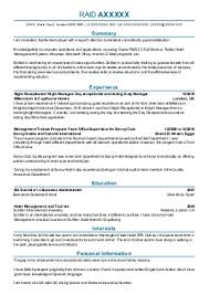 Catering Sales Manager Resume Food Beverages Example Sample Front Desk Hotel