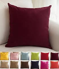 Amazon TangDepot Cotton Solid Throw Pillow Covers 18