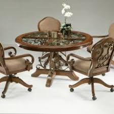 Sumptuous Design Swivel Dining Room Chairs With Casters