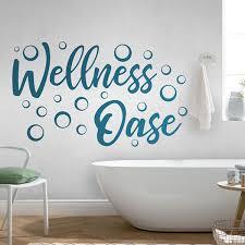 wandtattoo wellness oase wandtattoo badezimmer wandaufkleber