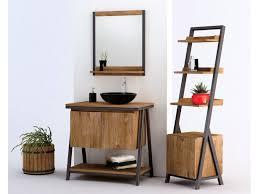 sera badmöbel set aus teakholz metall badmöbel kollektion