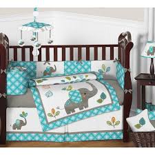 sweet jojo designs mod elephant 9 piece crib bedding set reviews