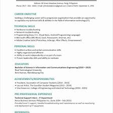 Sample Resume Objectives For College Graduates Professional Nursing