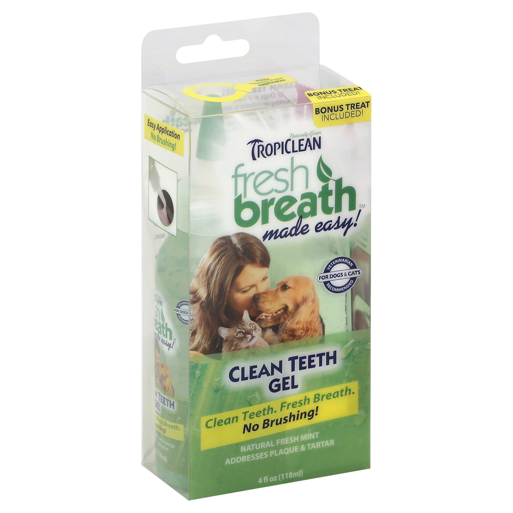 Tropiclean Fresh Breath Clean Teeth Gel - 4 fl oz