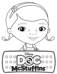 Disney Doc Mcstuffins Coloring Pages Logo