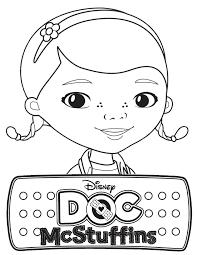 Disney Doc Mcstuffins Coloring Pages Logo