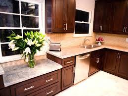 Kitchens With Dark Cabinets And Light Countertops by Dark Kitchen Cabinets With Light Backsplash U2013 Quicua Com
