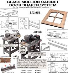 glass mullion cabinet door shaper system weaver manufacturing