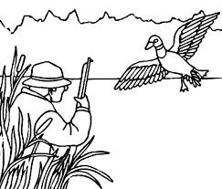 Mallard Duck Hunting For Coloring Pages