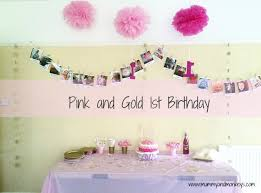 Pink And Gold Birthday Themes by Pink And Gold 1st Birthday Theme Mummy And Monkeys