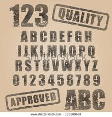 Stamp Font Stock Images Royalty Free Vectors