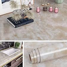 livelynine klebefolie marmor folie beige mamorfolie selbstklebend folie für tisch schminktisch schreibtisch küchenarbeitsplatte fensterbank folie