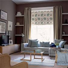 canapé gris taupe decoration salon mur taupe canape gris coussin bleu