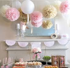 11pcs Wedding Series Tissue Paper Pom Poms Lanterns Party Decoration Fluffy Flowers Sweet
