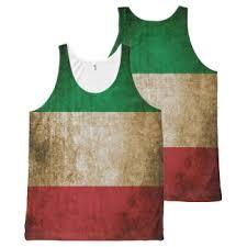 Vintage Rustic Italian Flag All Over Print Tank Top