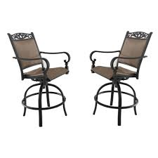 Tuscan Estate Swivel Aluminum Outdoor High Dining Chair In Heather Brown  Sling (2-Pack) Chair Overstock Patio Fniture Adirondack High Chairs With Table Grand Terrace Sling Swivel Rocker Lounge Trends Details About 2pcs Rattan Bar Stool Ding Counter Portable Garden Outdoor Rocking Lovely Back Quality Cast Alinum Oval And Buy Tables Chairsding Chairsgarden Outside Top 2 Pcs Set Household Appliances Cool Full Size Bar Stools