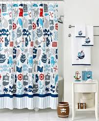 Kassatex Bath Accessories Pirates Shower Curtain Shower