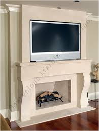 Marble floor medallions and fireplace mantel Surround