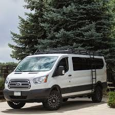 Ford Transit Van By Works In Colorado Outfitted With Aluminess Roof Rack And Ladder Sprinter ConversionCamper