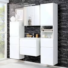 badezimmer hochschrank concetada in hochglanz weiß