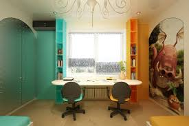colorful and inspirational room desks for studying and