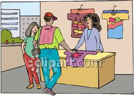 Couple Buying Souvenir T Shirt