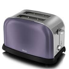 Swan Metallic 2 Slice Toaster