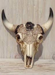Decorated Cow Skulls Pinterest by Cow Skull Decor Southwestern Decor Faux Taxidermy Head