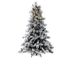 Pre Lit Flocked Artificial Christmas Trees by 7ft Pre Lit Nordic Pine Glittery Flocked Artificial Christmas Tree