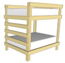 simple bunk bed plans bed plans diy u0026 blueprints