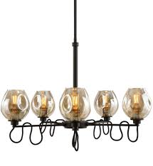 100 Fritz 5 Uttermost 21312 Uttermost Light Gold Glass Chandelier