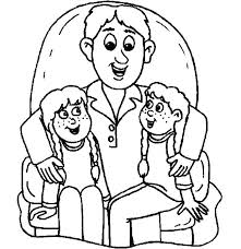Coloring Pages I Love Dad We Sit On Lap