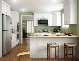 U Shaped Kitchen Floor Plans Island In The Middle Mix Refrigerator L Shape Using