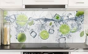 spritzschutz glas erfrischende limette 50 x 125cm sicherheitsglas scheibe