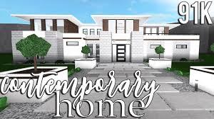 100 Contempory Home ROBLOX Welcome To Bloxburg Contemporary 91k YouTube