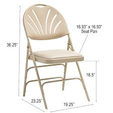 Samsonite 51659-2899 Folding Chair, Neutral 50 Pc Ivory Spandex Stretch Folding Arched Front Chair Covers Wedding Pair Of 1950s Heavy Steel Chairs By Samsonite 6 Pack Fabric Upholstered Padded Seat Metal Frame Fniture Black Cosco Oversized Set 4 Cushion Material Garden Upc 042952096731 Of 7 Sudden Comfort By Meco Deluxe Xl Fanback Case4 516592899 Neutral Recover Your Old 4pack