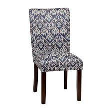 Indigo Ikat Parsons Chair Kirklands Inside Idea 4