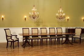 Captains Chairs Dining Room by Inlaid Double Pedestal Mahogany Dining Table Seats 14 People