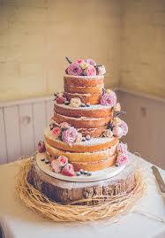 Naked Wedding Cake Reception Flowers Inspiraton Donut Cake218