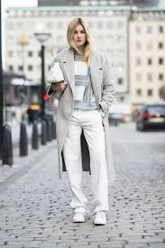 Wear White Jeans All Through Winter With A Pair Of Sneakers No Less