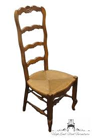 Tall Ladder Back Chairs With Rush Seats by High End Used Furniture Drexel French Country Manner Rush Seat