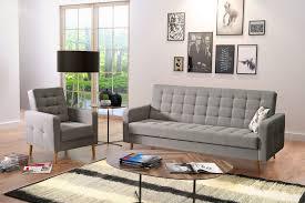 canap et fauteuil assorti salon avec canapé convertible fauteuil city ton gris sb meubles