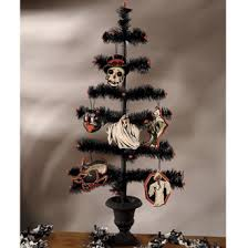 Halloween Black Feather Tree in Urn Bethany Lowe