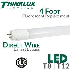 4 foot led fluorescent replacement light t8 t12 earthled