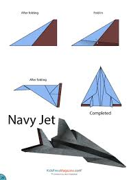 FAMILIES FAVOURITE FREE TIME AIRPLANE ACTIVITES Paper Airplane Instructions Navy Jet Advanced Plane Printable Template