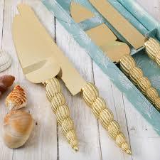 100 Sea Shell Design CONCH SEA SHELL DESIGN KNIFE AND SERVER SET