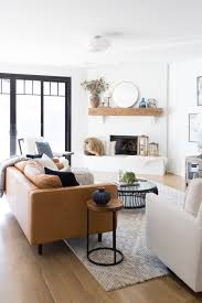 Tulsa Remodel Reveal Modern White Farmhouse Black Windows And Doors Leather Sofa Article Sven