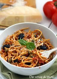 pates a la puttanesca de vous à moi spaghetti puttanesca