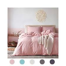 Amazon Moreover 3 Pieces Pink Bedding Light Pink Duvet Cover