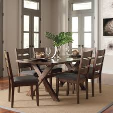 Wayfair Dining Table Chairs by Exquisite Loon Peak Ventura 7 Piece Dark Brown Dining Set Reviews